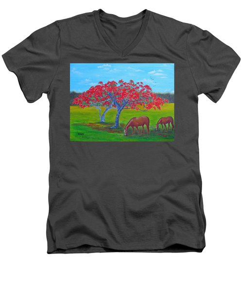 Pleasent Pastures Men's V-Neck T-Shirt