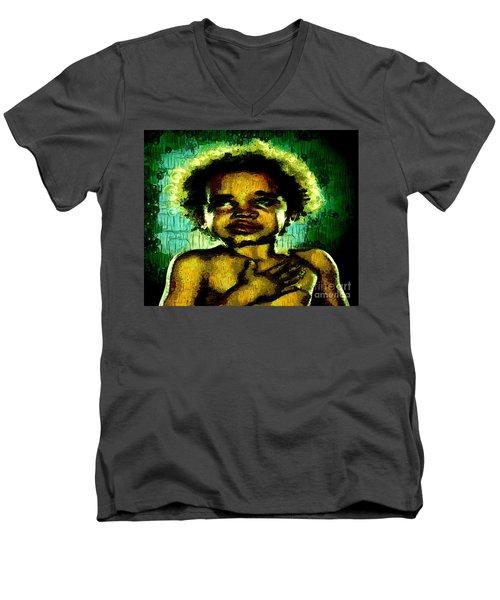 Pledge Of Allegiance Men's V-Neck T-Shirt