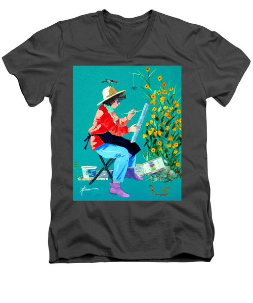 Plein Air Painter  Men's V-Neck T-Shirt