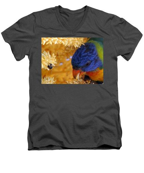 Men's V-Neck T-Shirt featuring the photograph Plenty by Linda Hollis
