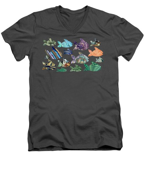 Fish In The Sea Men's V-Neck T-Shirt
