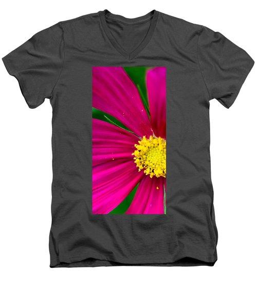 Plink Flower Closeup Men's V-Neck T-Shirt by Michael Bessler