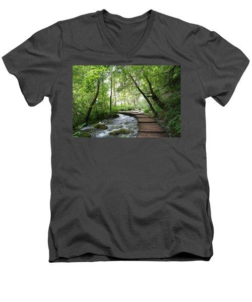 Plitvice Lakes National Park Men's V-Neck T-Shirt