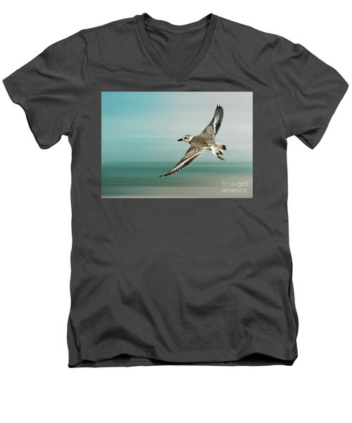 Plover In Flight Men's V-Neck T-Shirt