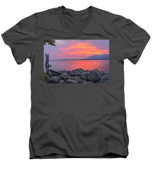 Plum Point Awakening Men's V-Neck T-Shirt