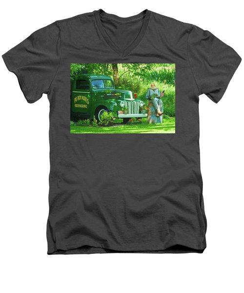 Po Boy Acres Men's V-Neck T-Shirt by Trey Foerster