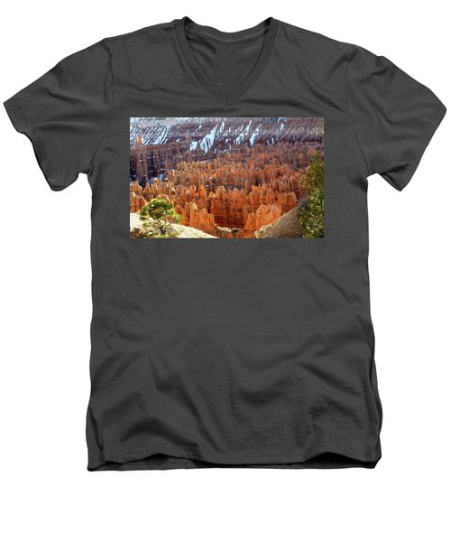 Pocket Full Of Hoodoos, Evening Men's V-Neck T-Shirt by Amelia Racca