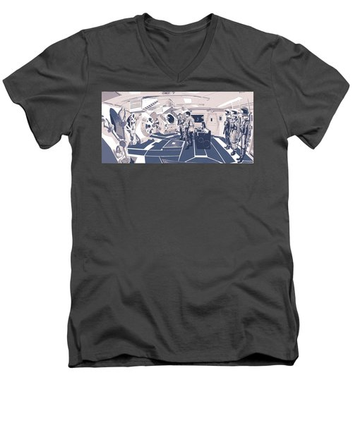 Pod Bay Men's V-Neck T-Shirt by Kurt Ramschissel