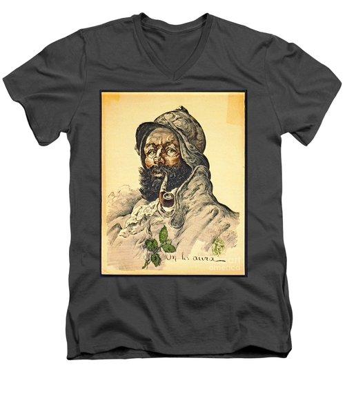 Poilu 1916 Men's V-Neck T-Shirt by Padre Art