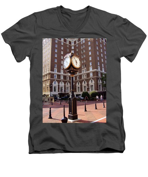 Poinsett Hotel Greeenville Sc Men's V-Neck T-Shirt
