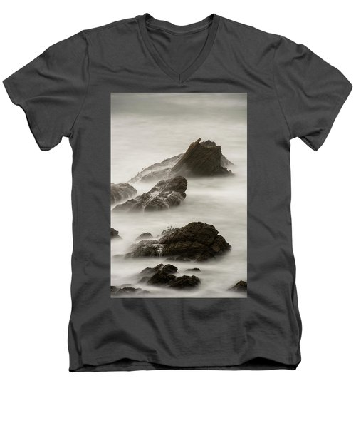 Men's V-Neck T-Shirt featuring the photograph Point Arena  by Dustin LeFevre