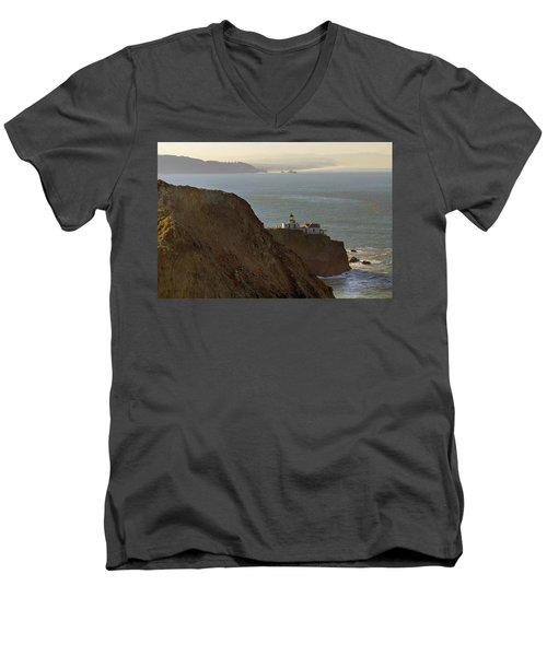 Point Bonita Lighthouse In San Francisco Men's V-Neck T-Shirt