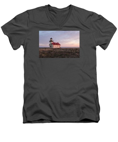 Point Cabrillo Light House Men's V-Neck T-Shirt by Catherine Lau