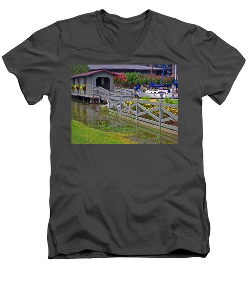 Point Clear Bridge At Grand Hotel Men's V-Neck T-Shirt