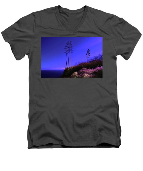 Men's V-Neck T-Shirt featuring the photograph Point Fermin In Infrared by Randall Nyhof