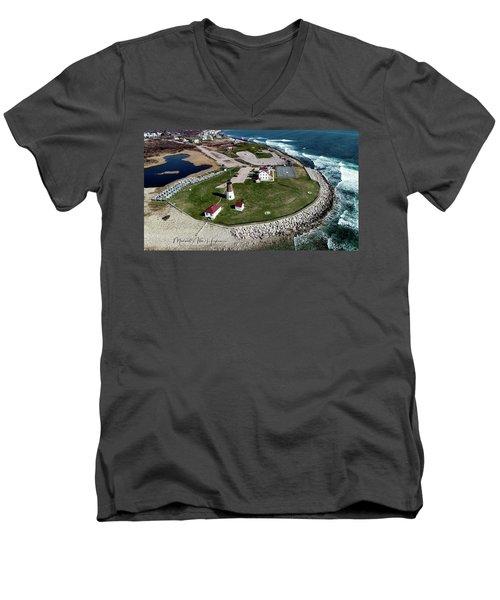 Point Judith Easter Cross Men's V-Neck T-Shirt
