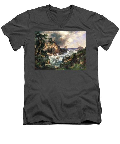 Point Lobos Monterey California Men's V-Neck T-Shirt