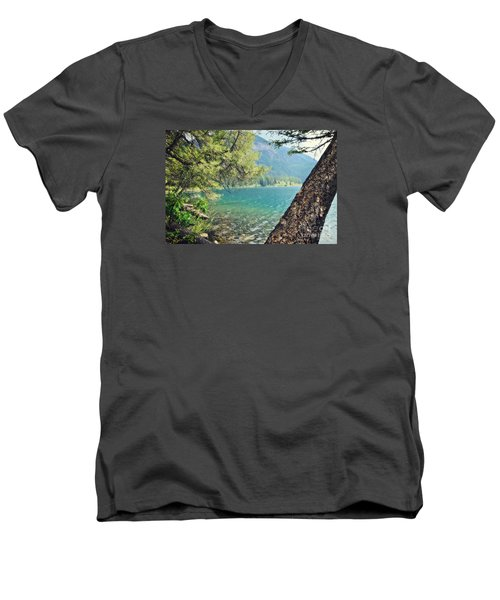 Men's V-Neck T-Shirt featuring the photograph Point Of Interest by Janie Johnson