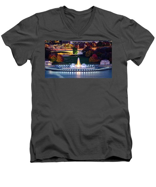 Point State Park  Men's V-Neck T-Shirt by Mihai Andritoiu