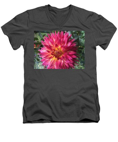 Pointed Dahlia Men's V-Neck T-Shirt