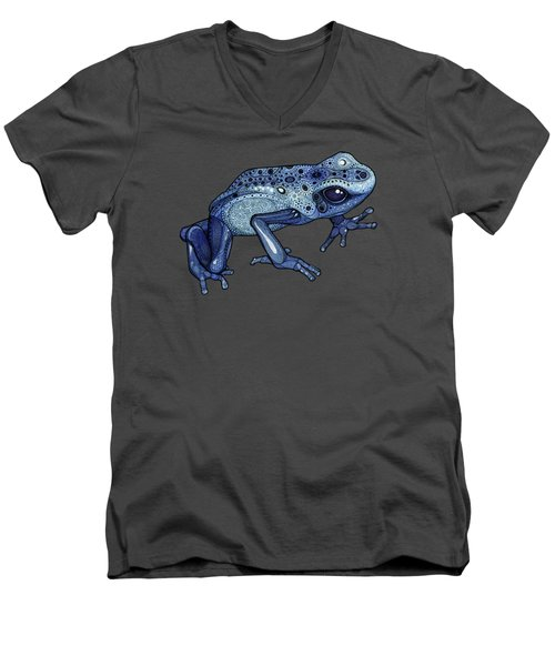 Poison Dart Frog Men's V-Neck T-Shirt by ZH Field