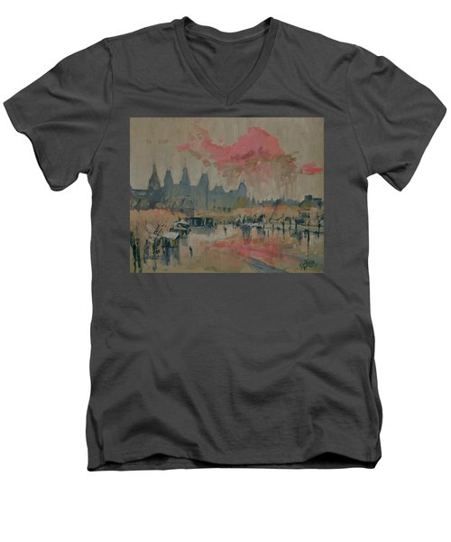 Pokkenweer Museum Square In Amsterdam Men's V-Neck T-Shirt