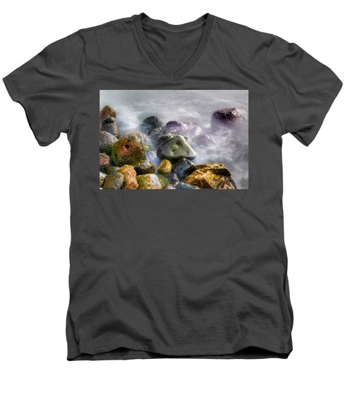 Polished Rocks Men's V-Neck T-Shirt