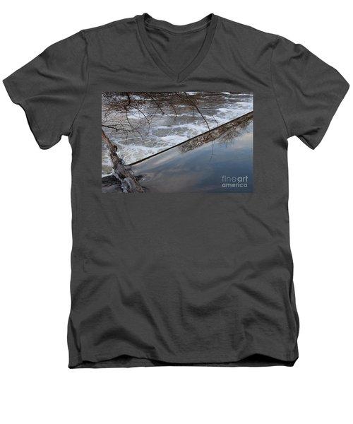 Pompton Spillway From Above Men's V-Neck T-Shirt