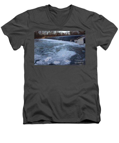 Pompton Spillway In Winter 2 Men's V-Neck T-Shirt