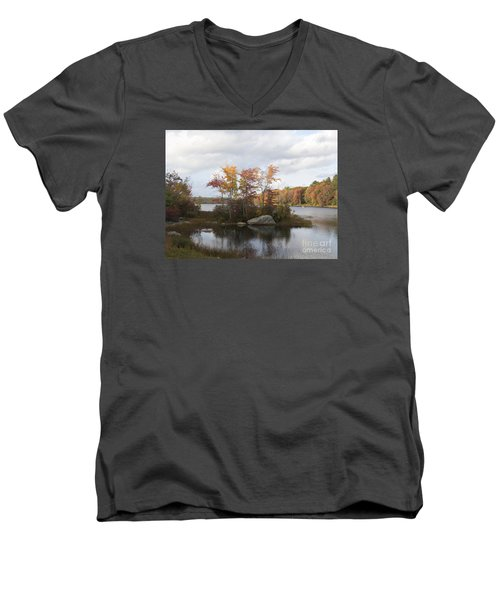Ponaganset Autumn 2015 Men's V-Neck T-Shirt