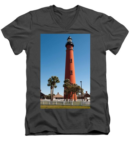 Ponce De Leon Inlet Light Men's V-Neck T-Shirt