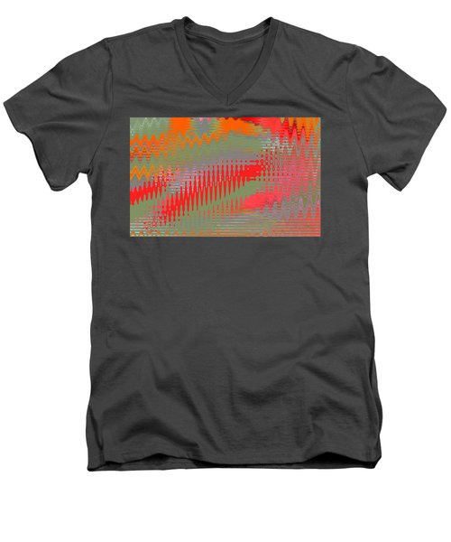 Pond Abstract - Summer Colors Men's V-Neck T-Shirt by Ben and Raisa Gertsberg
