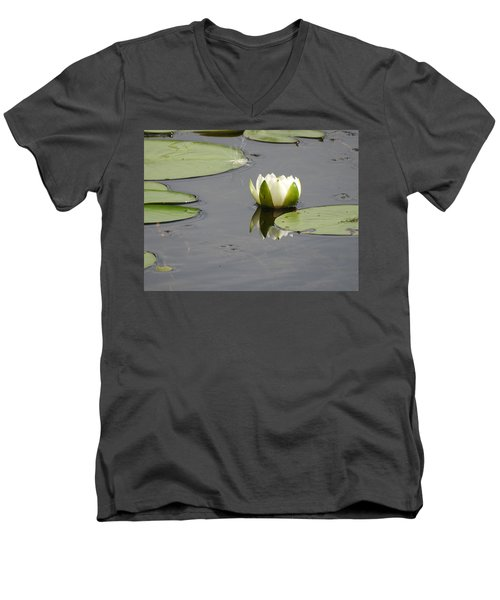 Men's V-Neck T-Shirt featuring the photograph Pond Beauty by Betty-Anne McDonald