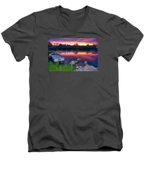 Pond Dreams 9 Men's V-Neck T-Shirt