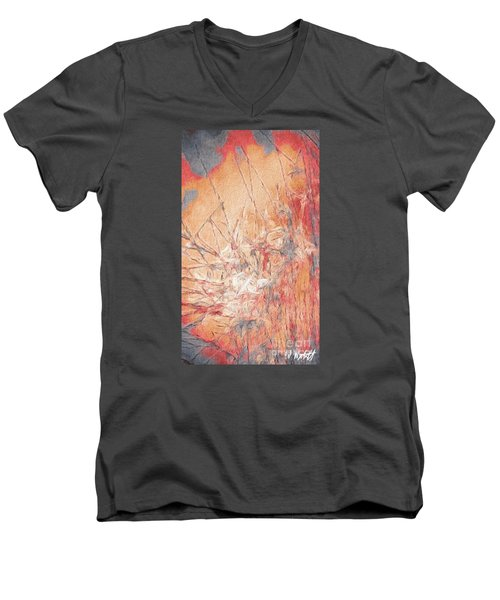 Men's V-Neck T-Shirt featuring the photograph Pond In Fall by William Wyckoff