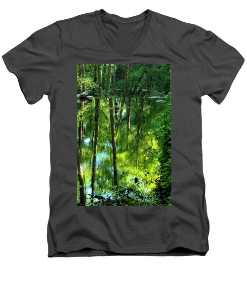 Pond On Gabrielino Trail Men's V-Neck T-Shirt
