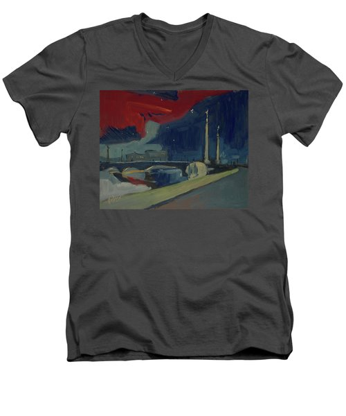 Pont Fragnee In Liege Men's V-Neck T-Shirt