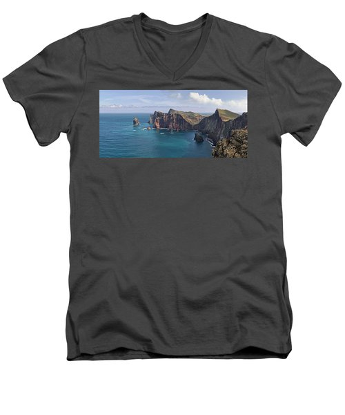 Punta San Lorenzo  Men's V-Neck T-Shirt