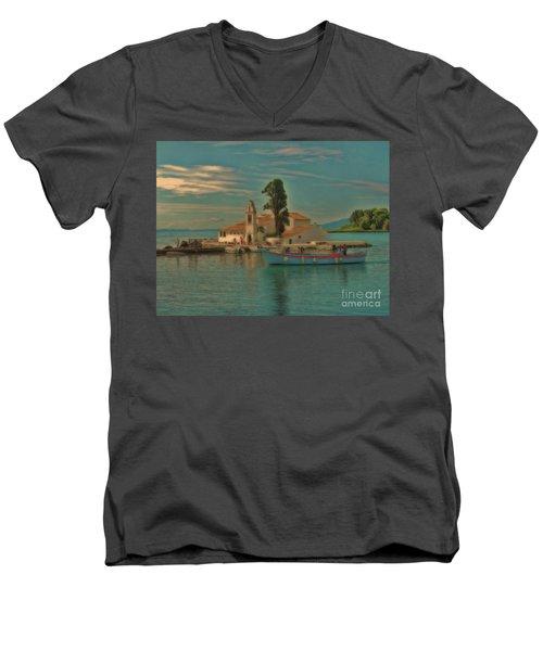 Pontikonisi Corfu Men's V-Neck T-Shirt