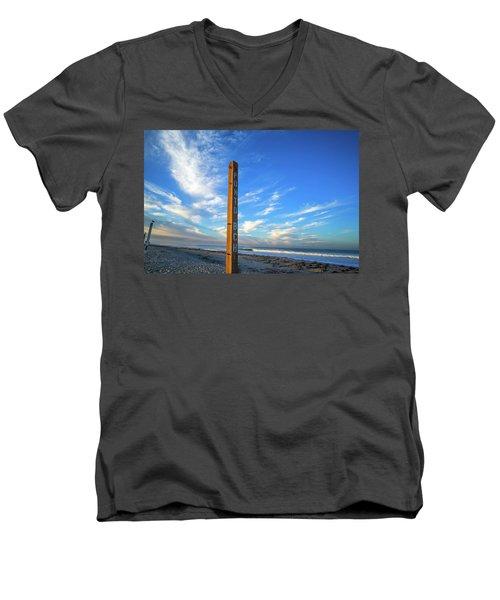Ponto Beach Men's V-Neck T-Shirt by Joseph S Giacalone