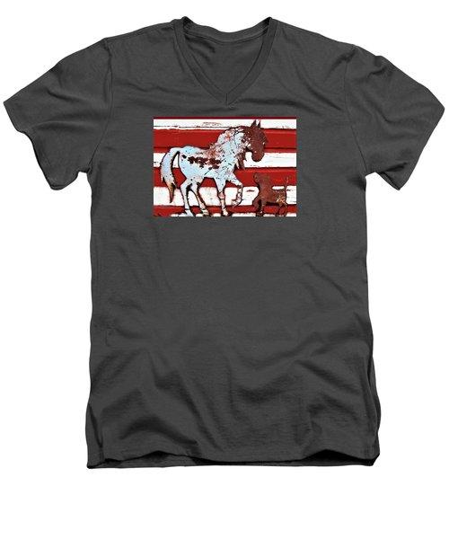 Pony And Pup 3 Men's V-Neck T-Shirt