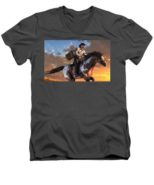 Pony Express Men's V-Neck T-Shirt