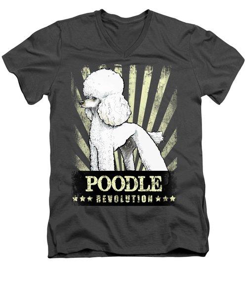 Poodle Revolution Men's V-Neck T-Shirt