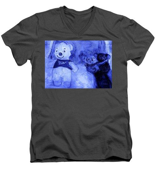 Pooh Bear And Friends Men's V-Neck T-Shirt