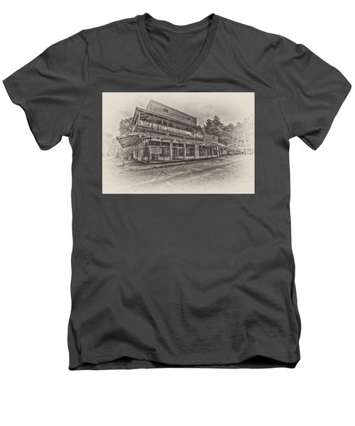 Poole's Crossroads In Sepia Men's V-Neck T-Shirt