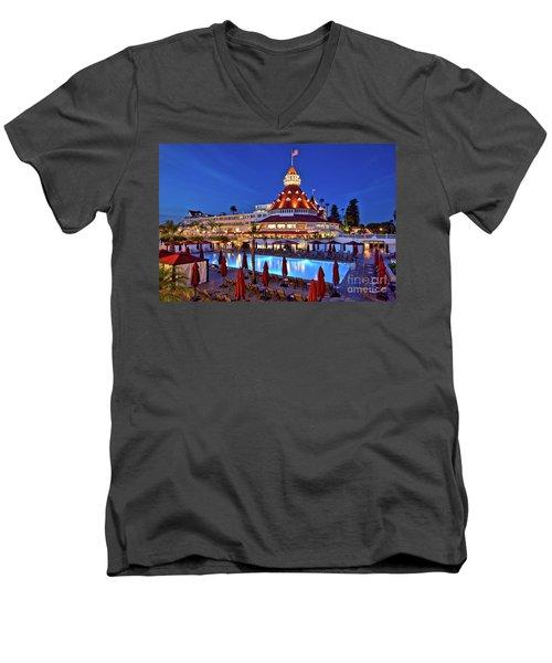 Poolside At The Hotel Del Coronado  Men's V-Neck T-Shirt