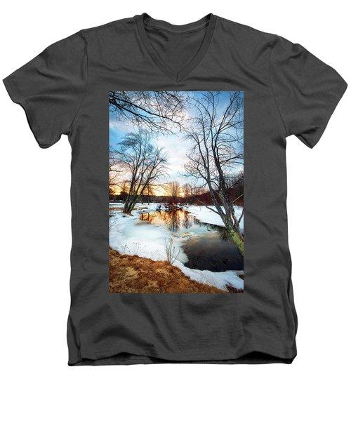 Poor Farm Brook Men's V-Neck T-Shirt