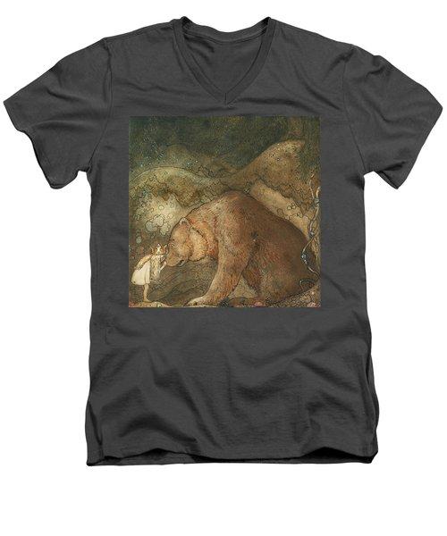 Poor Little Basse Men's V-Neck T-Shirt