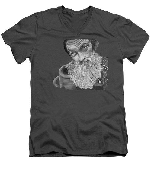Popcorn Sutton Black And White Transparent - T-shirts Men's V-Neck T-Shirt