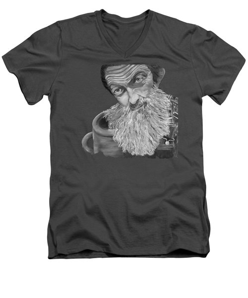 Popcorn Sutton Black And White Transparent - T-shirts Men's V-Neck T-Shirt